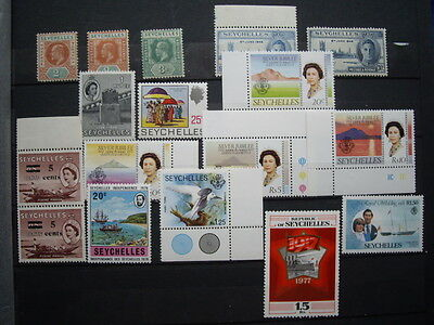 Seychelles: various Ed 7th- post-Independence MM/MNH