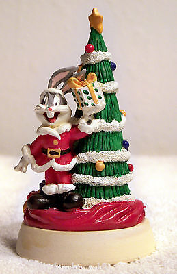 Bugs Bunny Cookie Stamp - Christmas Decor with Bugs in a Santa Suit by a Tree!