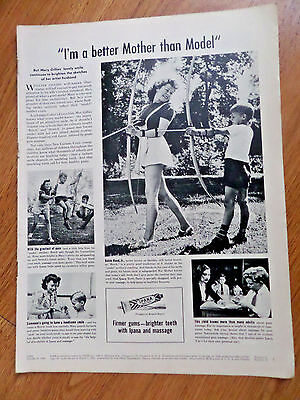 1946 Ipana Toothpase Ad   Mary Gillies Wife of Illustrator William Archery Theme