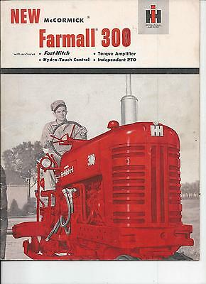 International Harvester 300 Tractor Dealers Sales Brochure IH 32 Pgs.