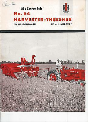 International Harvester No.64 Harvester Thresh Dealers  Brochure IH 19 Pgs.
