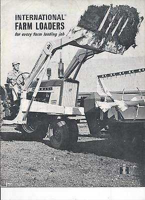 International Harvester Farm Tractor Loaders Dealers Sales Brochure IH 8 Pgs.