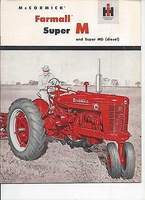 International Harvester Farmall Super M,MD Tractor Dealers  Brochure IH 24 Pgs.