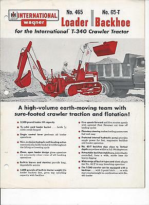 International Harvester T-340 Crawler Tractor Sales Brochure IH 4 Pgs.