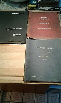 workshop manual rootes,humber,and chrysler automatic transmission