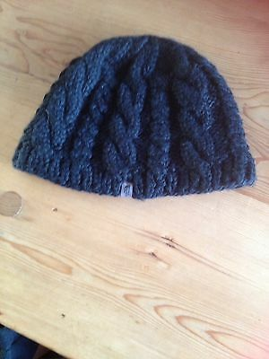 North Face Black Cable Beanie