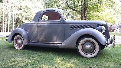 1936 Ford Other Deluxe 1936 36 ford 3w 3 window coupe hot rod old car vintage barn find survivor scta