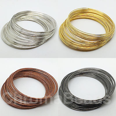 Steel Memory Wire - choose size/colour: Gold, Silver, GunMetal, Copper, Platinum