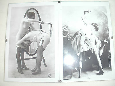 """2 Female Whipping Pictures in 8""""x6"""" Frame.Spanking.Martinet.Fetish."""