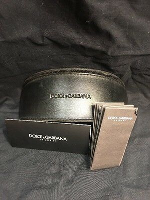 "Large ""dolce & Gabbana"" Black  Sunglasses Case With Paperwork"