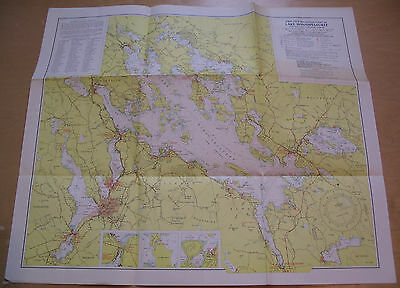 1969-1970 Lake Winnipesaukee New Hamshire Navigation Chart Map