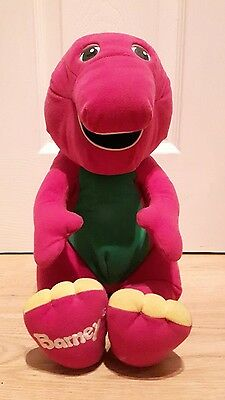 """Barney The Dinosaur interactive cuddly toy. 16"""" * good condition for age"""