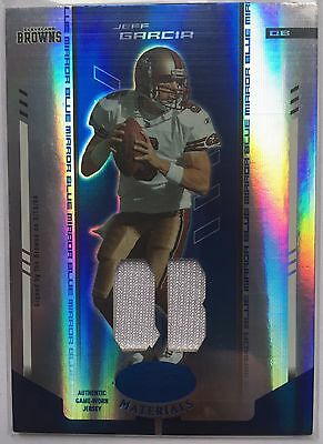 Jeff Garcia (49ers) 2004 Leaf Certified Jersey Mirror Blue #rd/50