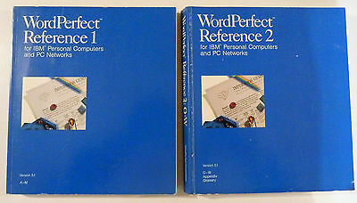 Vintage Computer Manuals:Word Perfect For IBM Computers & PC Newtworks.Reference