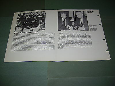 Rare Rediffusion TV Alistair Cooke Lion And The Eagle 1966 Publicity