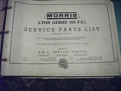 The Morris 3 Ton Series 304 FC  Parts List BMC Ring Binder