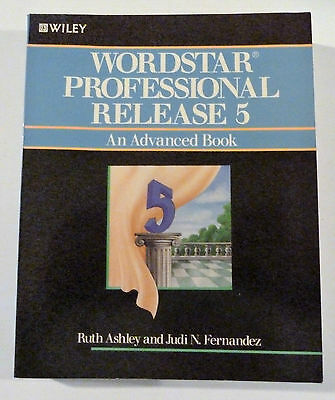 Vintage Computer Manual MicroPro Wordstar Professional Release 5.Book Wiley.
