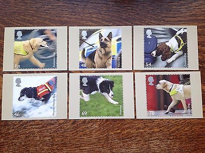 PHQ 307 Working Dogs 2008 Set Of 6 Mint