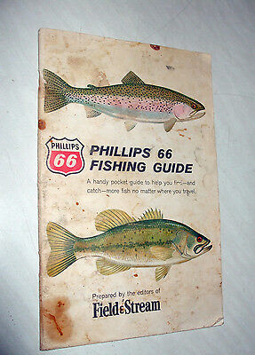 Vintage 1963 Phillips 66 Fishing Guide By Field & Stream Booklet 32 Pages