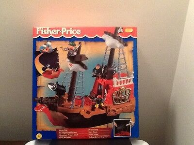 Fisher Price Pirate Ship New Boxed Vintage