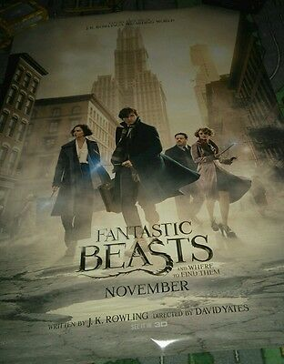 Fantastic Beasts Rare Cinema One Sheet Poster Official. Harry Potter