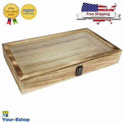 Wooden Box For Jewelry Storage Organizer Wood Display Glass Case Free Shipping