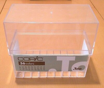 Copic Markers Empty Plastic Box For 36 Markers!