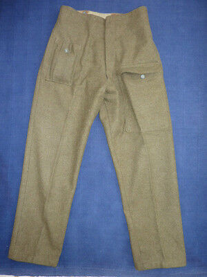 WW2 British Battle Dress Trousers Pattern 1940 Indian Made - Includes FFD 1943