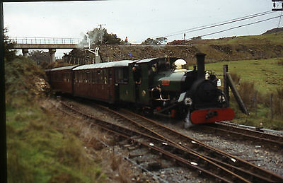(206) Ffestiniog Railway 'Blanche' arriving Dduallt 1980's? - 35mm Colour Slide