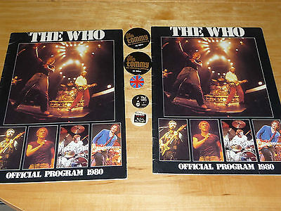 THE WHO (Lot) 2 Tour Programs + NTSC VHS Who's Better, Who's Best + Badges + ...