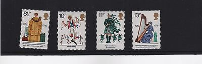 1976 British Cultural Traditions  Mint Set Of Four As Issued
