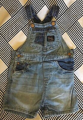 Zara Baby Boy Denim Dungarees, 9-12 Months, Excellent Condition