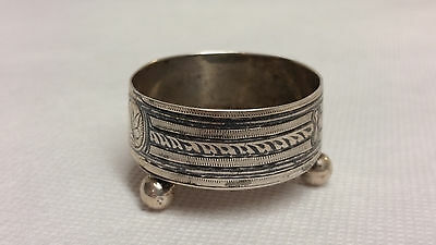 Sterling silver russian c.1900 salt bowl , Russia silver 84 cup