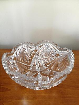 VINTAGE1800's CUT PRESSED GLASS  ROUND SERVING  BOWL