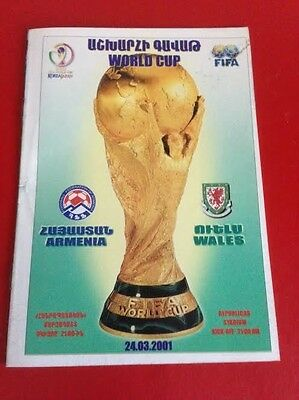 ARMENIA v WALES 24-03-2001 WORLD CUP QUALIFIER