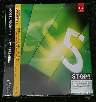 Adobe Creative Suite CS 5 Web Premium Full Edu Version - MAC OSX New Photoshop
