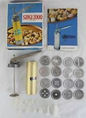 Vintage Sawa 2000 Deluxe Cookie Press PARTS ONLY Disc Replacements Pastry Tip