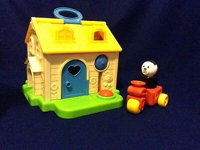 Vintage Fisher Price House With Tractor And Dog