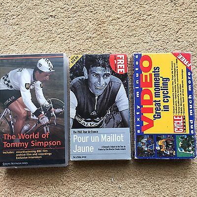 3 Vintage Cycling Films Videos DVD Sufferfest Simpson