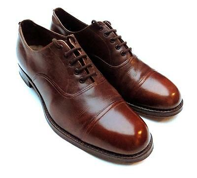 Vintage Quality 1950's/60's Brown/tan Leather Oxford Shoes Uk 6 Us 7 Eu 39