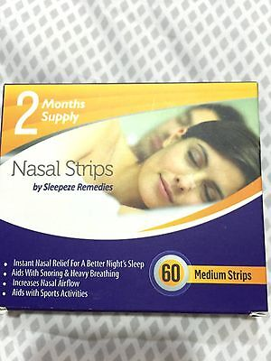 Sleepeze Nasal strips to aid snoring 60 in a pack