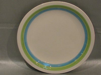 "6 Harmony House Emerald Isle Ironstone 7.5"" Bread Plates 4252 Sears Green Blue"