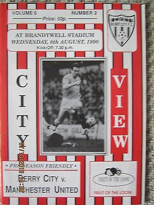 DERRY CITY  v  MANCHESTER UNITED     Fr     8 Aug 1990