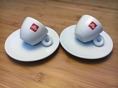Illy Espresso Shot Cups And Saucers X 2