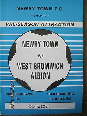 NEWRY TOWN  v  WEST BROMWICH ALBION       9 August 1990     (Friendly)