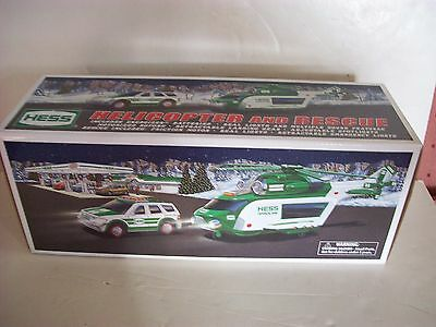 2012 HESS TOY HELICOPTER and RESCUE CAR MINT IN THE ORIGINAL BOX