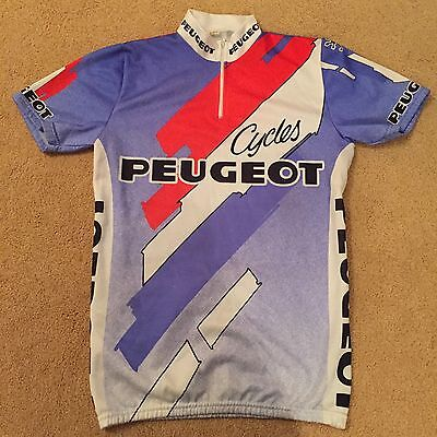 VINTAGE 1980s PEUGEOT TEAM CYCLING JERSEY SHIRT EROICA RETRO FIXIE