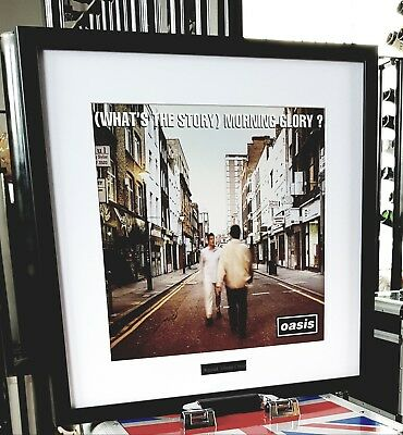 Oasis What's The Story Morning Glory-Framed Original Album Cover-Ltd Edition