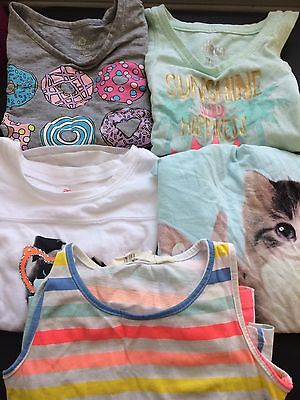 LOT    5pc    SPRING SUMMER Girls sizes 4/5  XS/S Circo H&M Okie Dokie