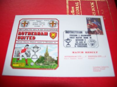 ROTHERHAM UNITED v NORWICH CITY FIRST AID COVER 1981